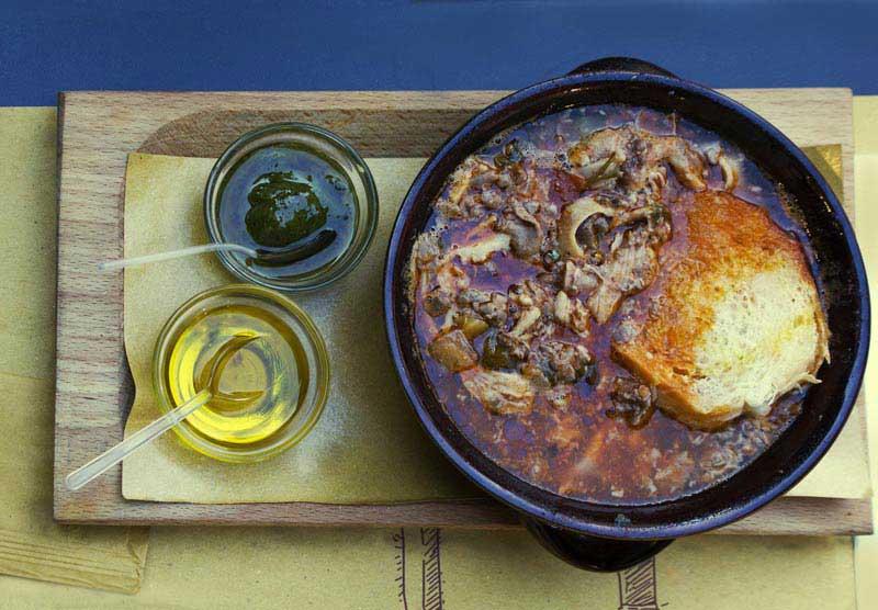 Fotografia del lampredotto piatto tipico toscano
